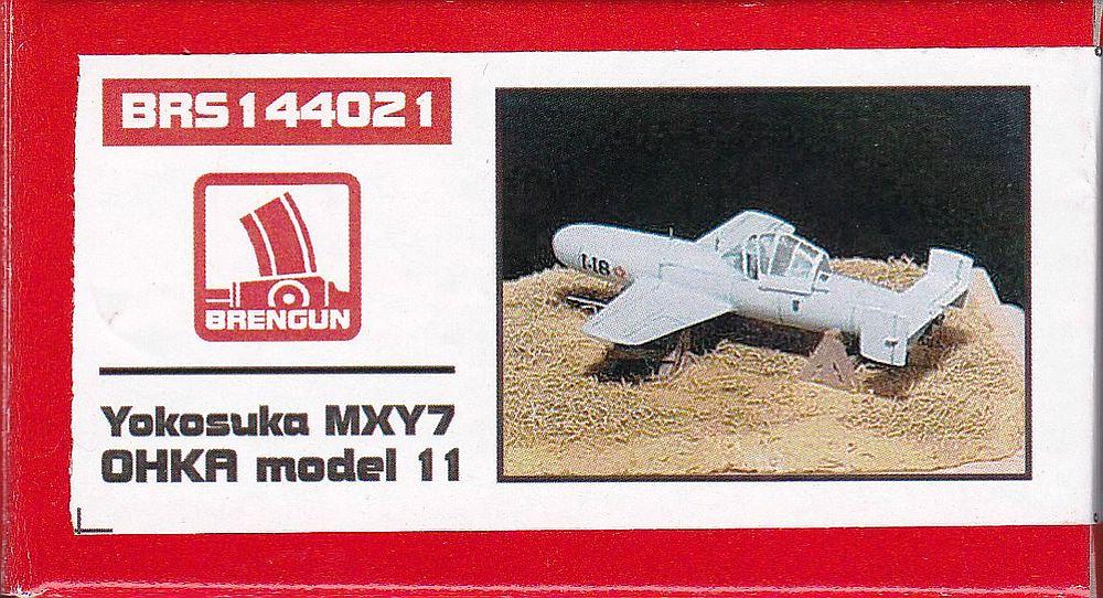 Brengun-144021-Yokosuka-MXY7-Ohka-Modell-11-1 Yokosuka MXY-7 Ohka Model 22 im Maßstab 1:144 von Brengun BRP 144021