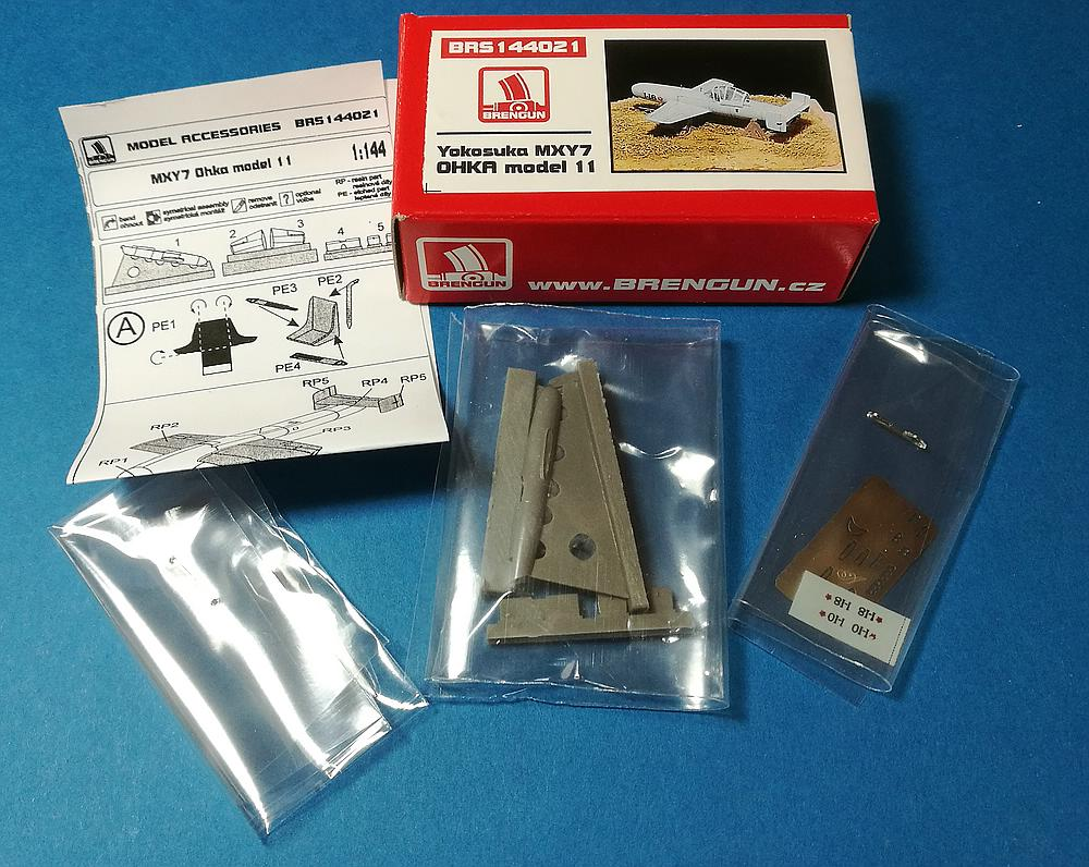 Brengun-144021-Yokosuka-MXY7-Ohka-Modell-11-3 Yokosuka MXY-7 Ohka Model 22 im Maßstab 1:144 von Brengun BRP 144021