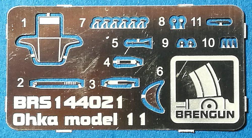 Brengun-144021-Yokosuka-MXY7-Ohka-Modell-11-7 Yokosuka MXY-7 Ohka Model 22 im Maßstab 1:144 von Brengun BRP 144021