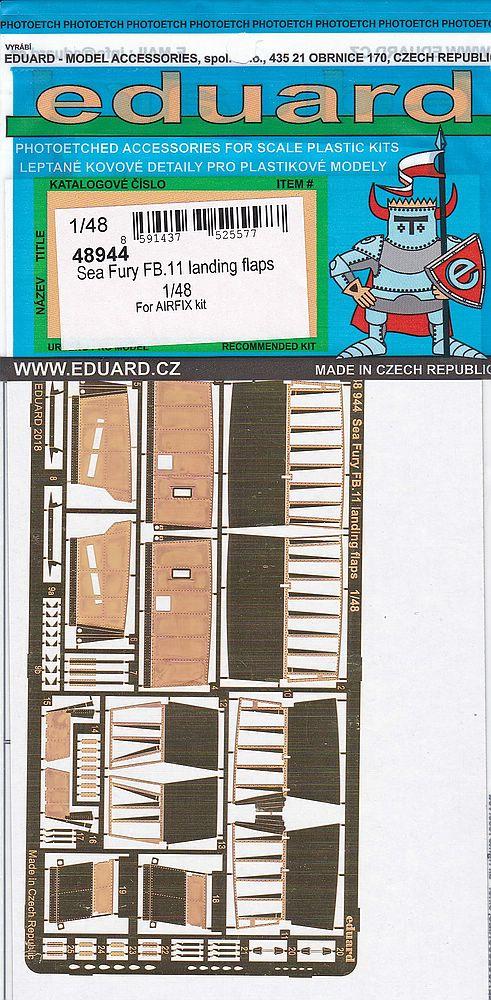 Eduard-48944-Sea-Fury-FB.11-Landing-Flaps-2 Detailsets für die 48er Sea Fury FB.11 von Airfix von Eduard