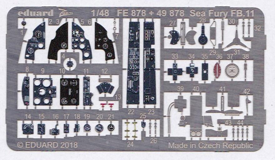 Eduard-49878-Sea-Fury-FB.11-Interior-2 Detailsets für die 48er Sea Fury FB.11 von Airfix von Eduard