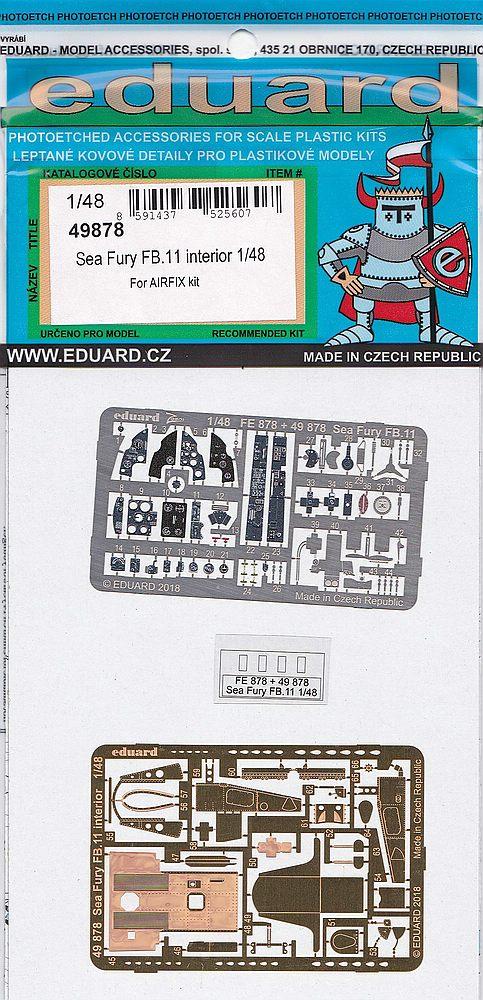 Eduard-49878-Sea-Fury-FB.11-Interior Detailsets für die 48er Sea Fury FB.11 von Airfix von Eduard