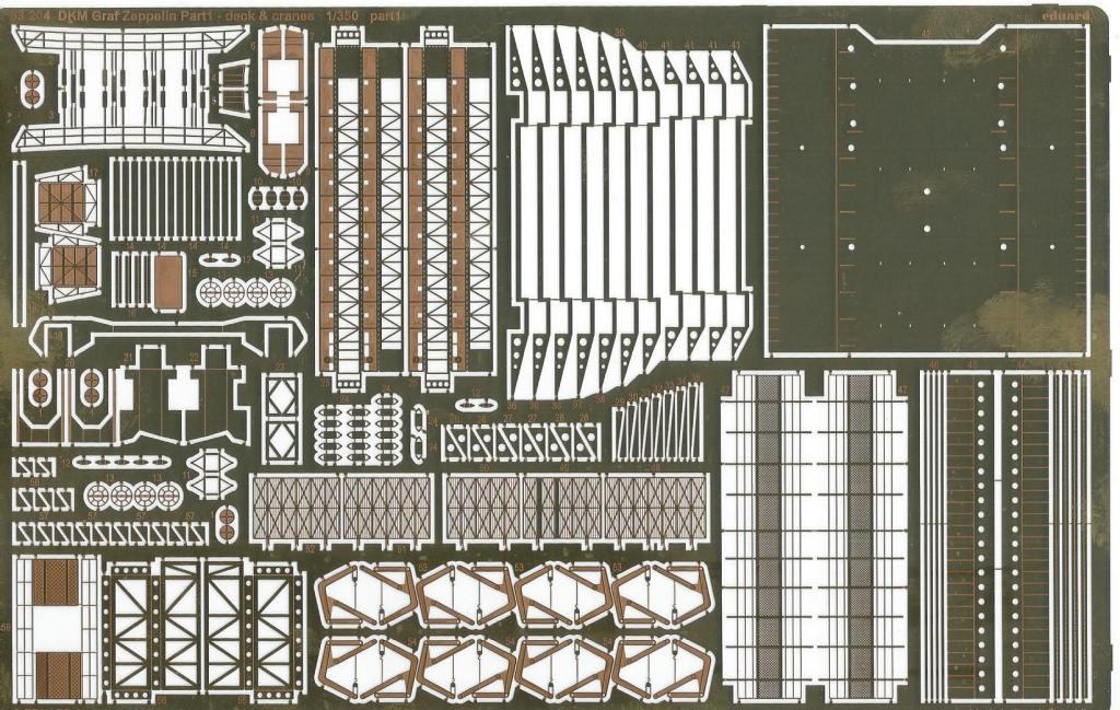 Eduard-53204-Graf-Zeppelin-Part-I-DeckCranes-3 Details für die Graf Zeppelin in 1:350 von Eduard 53204 und 53205