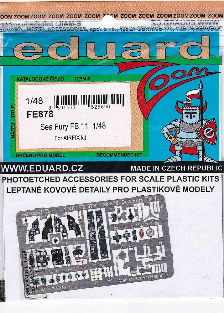 Eduard-FE-878-Sea-Fury-FB.11-ZOOM Detailsets für die 48er Sea Fury FB.11 von Airfix von Eduard