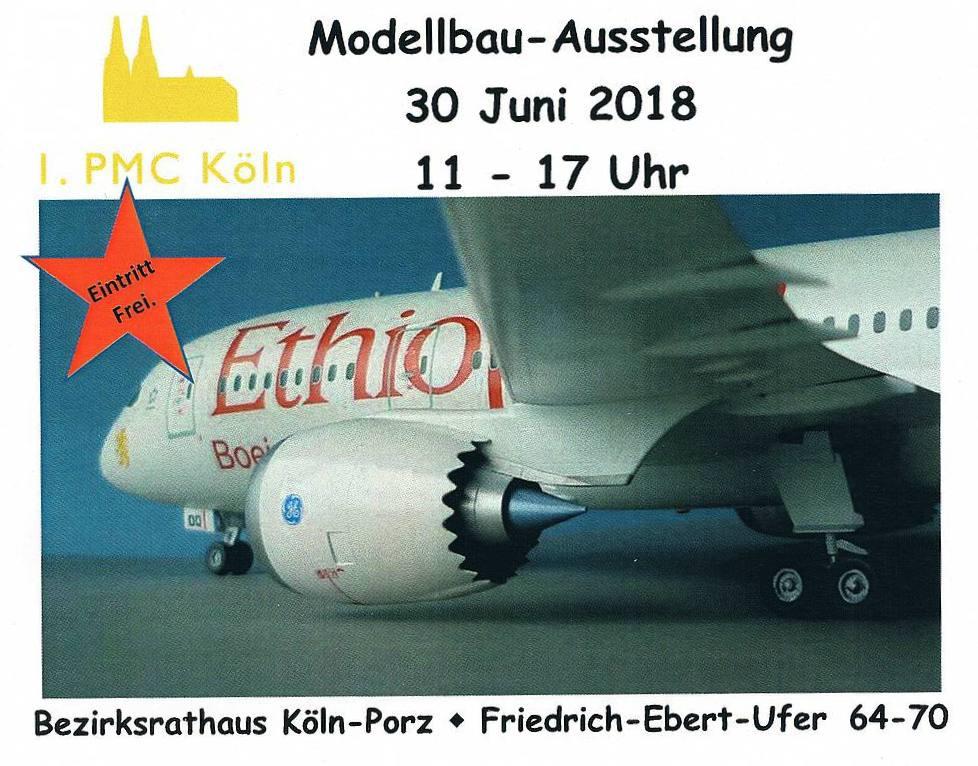 Flyer-1PMC-Köln-2018-1 Ausstellung des 1. PMC Köln am 30. Juni 2018