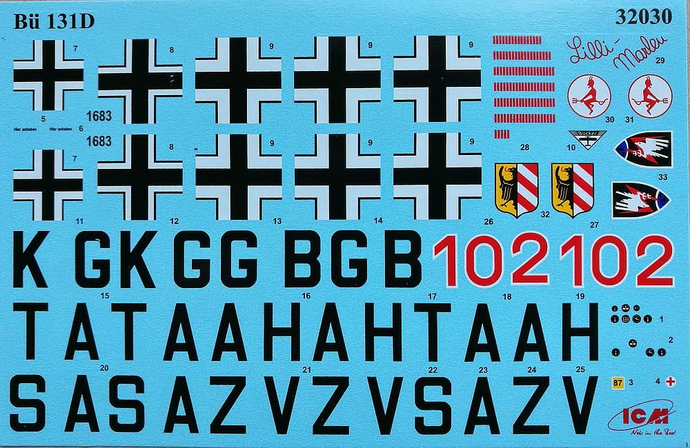 ICM-32030-Bücker-Bü-131D-16 Bücker Bü 131D im Maßstab 1:32 von ICM 32030