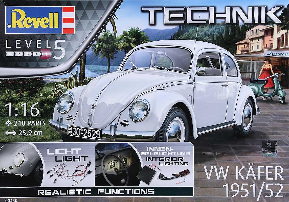 """Revell-00450-VW-Käfer-1951-52-Technik-1 VW Käfer Bj. 1951/52 im Maßstab 1:16 """"Technik"""" Revell 00450"""