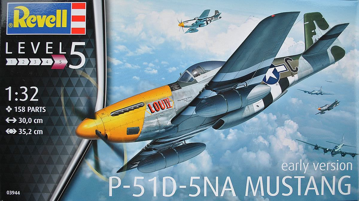 Revell-03944-P-51D-5-NA-Mustang-early-version-2 P-51D Mustang (early version) im Maßstab 1:32 von Revell 03944