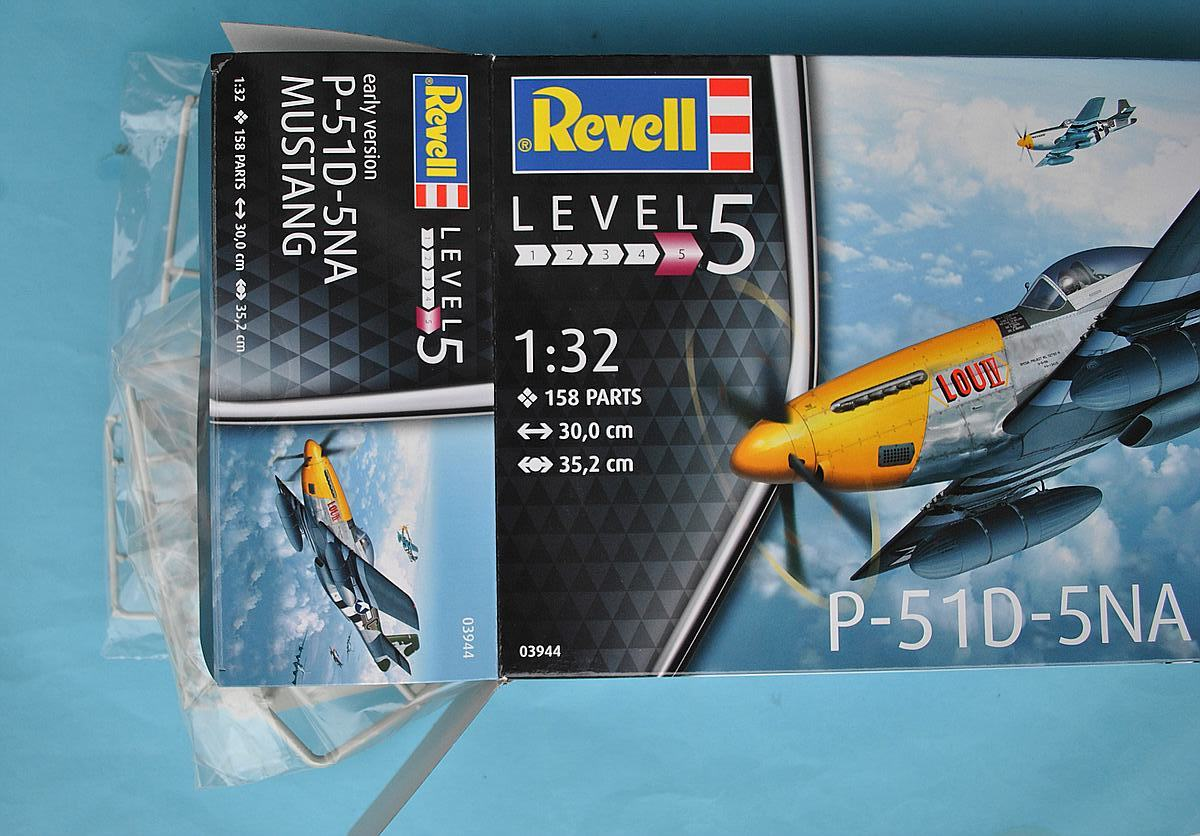 Revell-03944-P-51D-5-NA-Mustang-early-version-3 P-51D Mustang (early version) im Maßstab 1:32 von Revell 03944