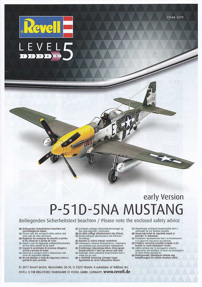 Revell-03944-P-51D-5-NA-Mustang-early-version-71 P-51D Mustang (early version) im Maßstab 1:32 von Revell 03944