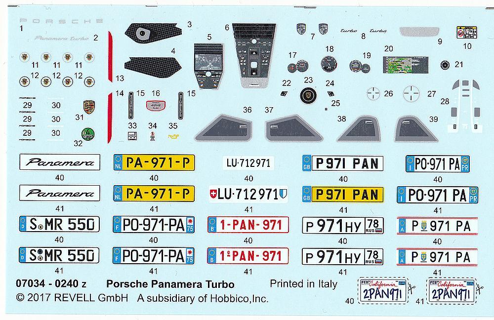Revell-07034-Porsche-Panamera-Turbo-6 Porsche Panamera Turbo in 1:24 Revell 07034