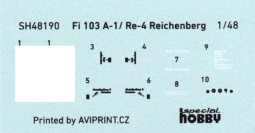Special-Hobby-SH-48190-Fi-103A-1-Re-4-Reichenberg Fiseler Fi 103A-1 / Re-4 Reichenberg (bemannte V1) von Special Hobby SH 48190