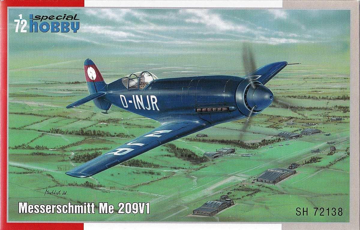 Special-Hobby-SH-72138-Messerschmitt-Me-209V1-10-1 Messerschmitt Me 209 V1 im Maßstab 1:72 von Special Hobby SH 72138