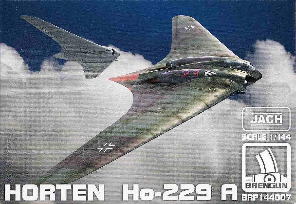 Brengun-BRP-144007-Horten-Ho-229-A-3 Horten Ho 229 A / Gotha Go 229 im Maßstab 1:144 von Brengun BRP 144007