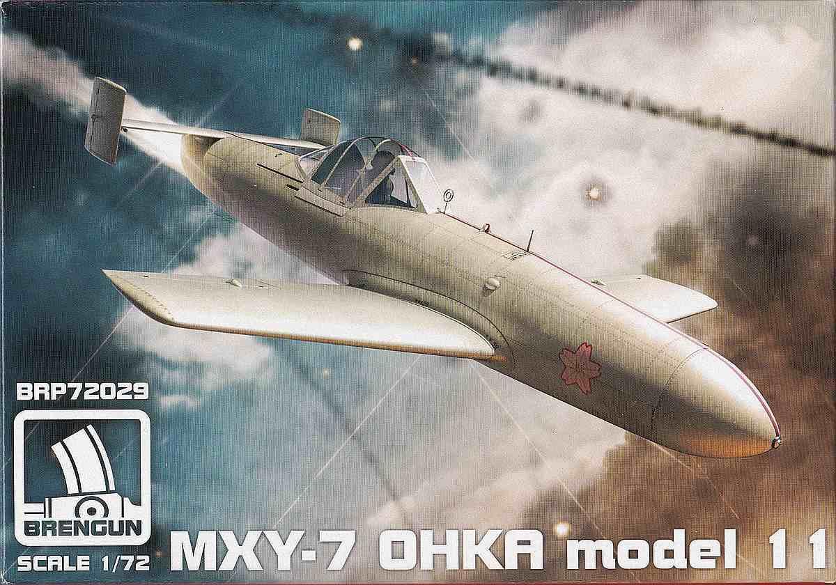 Brengun-BRP-72027-Ohka-Model-11-Deckelbild-1 Yokosuka MXY 7 Ohka Modell 11 im Maßstab 1:72 von Brengun BRP 72027