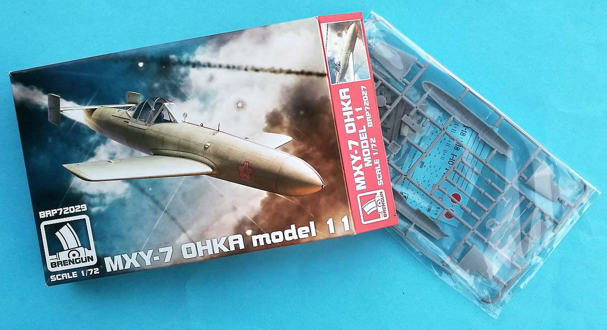 Brengun-BRP-72027-Ohka-Modell-11-14 Yokosuka MXY 7 Ohka Modell 11 im Maßstab 1:72 von Brengun BRP 72027