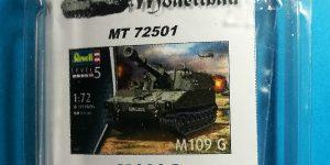 Tracked Gear Set Quickkit (Laufwerk) für M109G in 1:72 von ModellTrans MT 72501