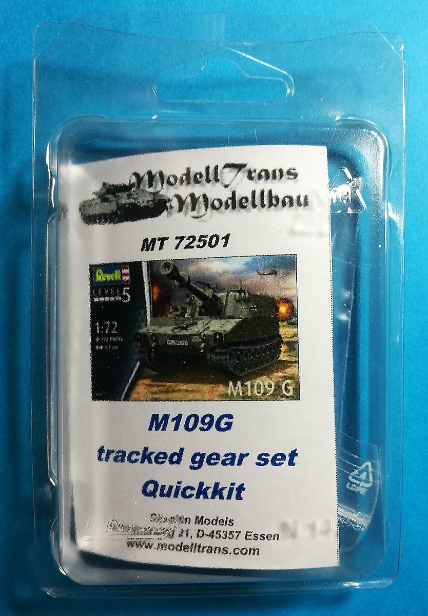 ModellTrans-MT-72501-M109G-Laufwerk-1 Tracked Gear Set Quickkit (Laufwerk) für M109G in 1:72 von ModellTrans MT 72501