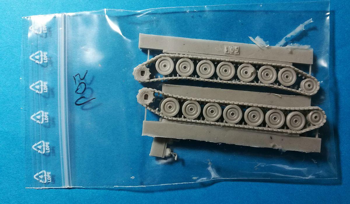 ModellTrans-MT-72501-M109G-Laufwerk-2 Tracked Gear Set Quickkit (Laufwerk) für M109G in 1:72 von ModellTrans MT 72501