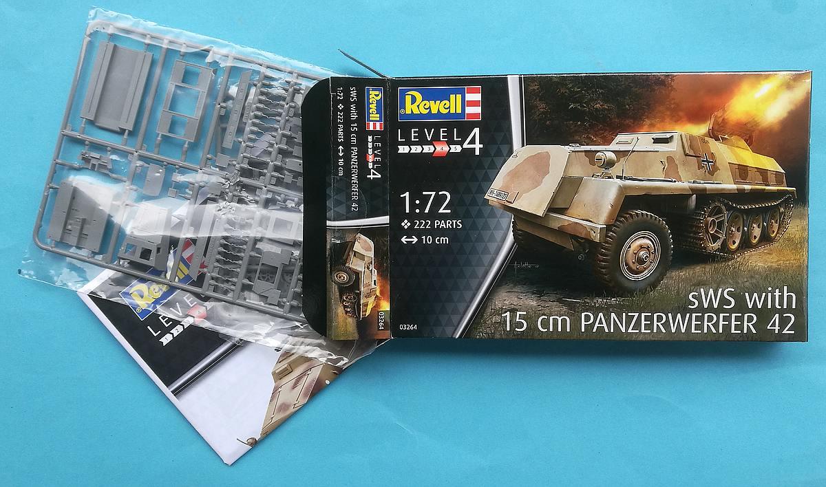 Revell-03264-sWS-with-15cm-Panzerwerfer42-34 sWS mit 15cm Panzerwerfer42 im Maßstab 1:72 von Revell 03264