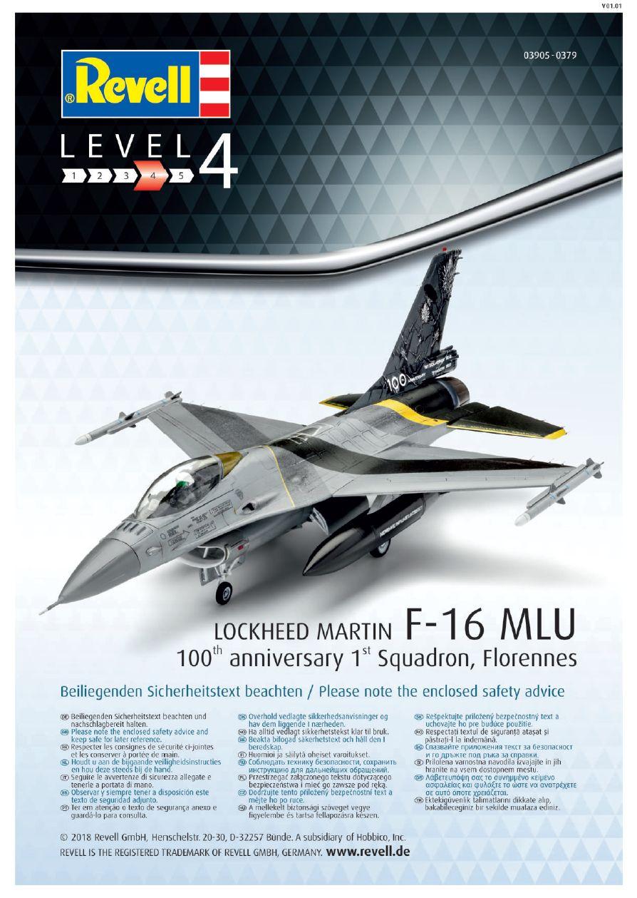 Revell-03905-F-16-MLU-100-Jahre-Florennes-17 F-16 MLU 100th anniversary 1st Squadron, Florennes in 1:72 von Revell 03905
