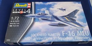 F-16 MLU 100th anniversary 1st Squadron, Florennes in 1:72 von Revell 03905