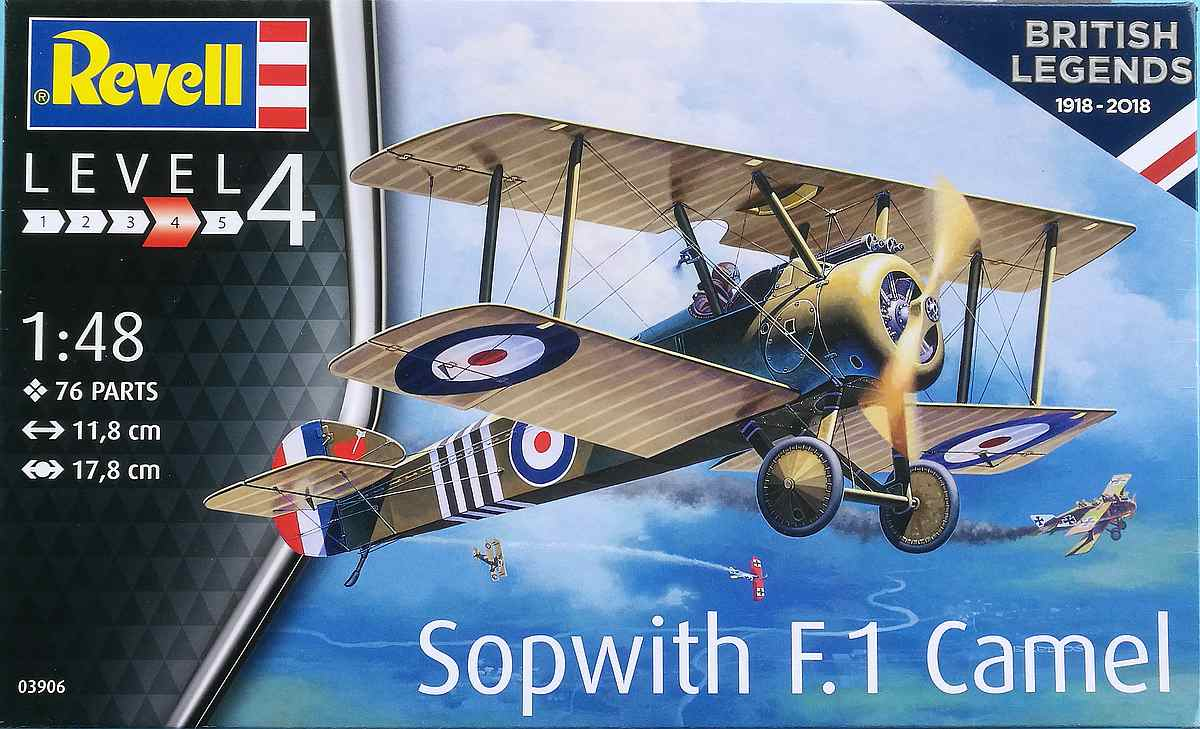 Revell-03906-Sopwith-F.1-Camel-1 Sopwith F.1 Camel in 1:48 Revell 03906