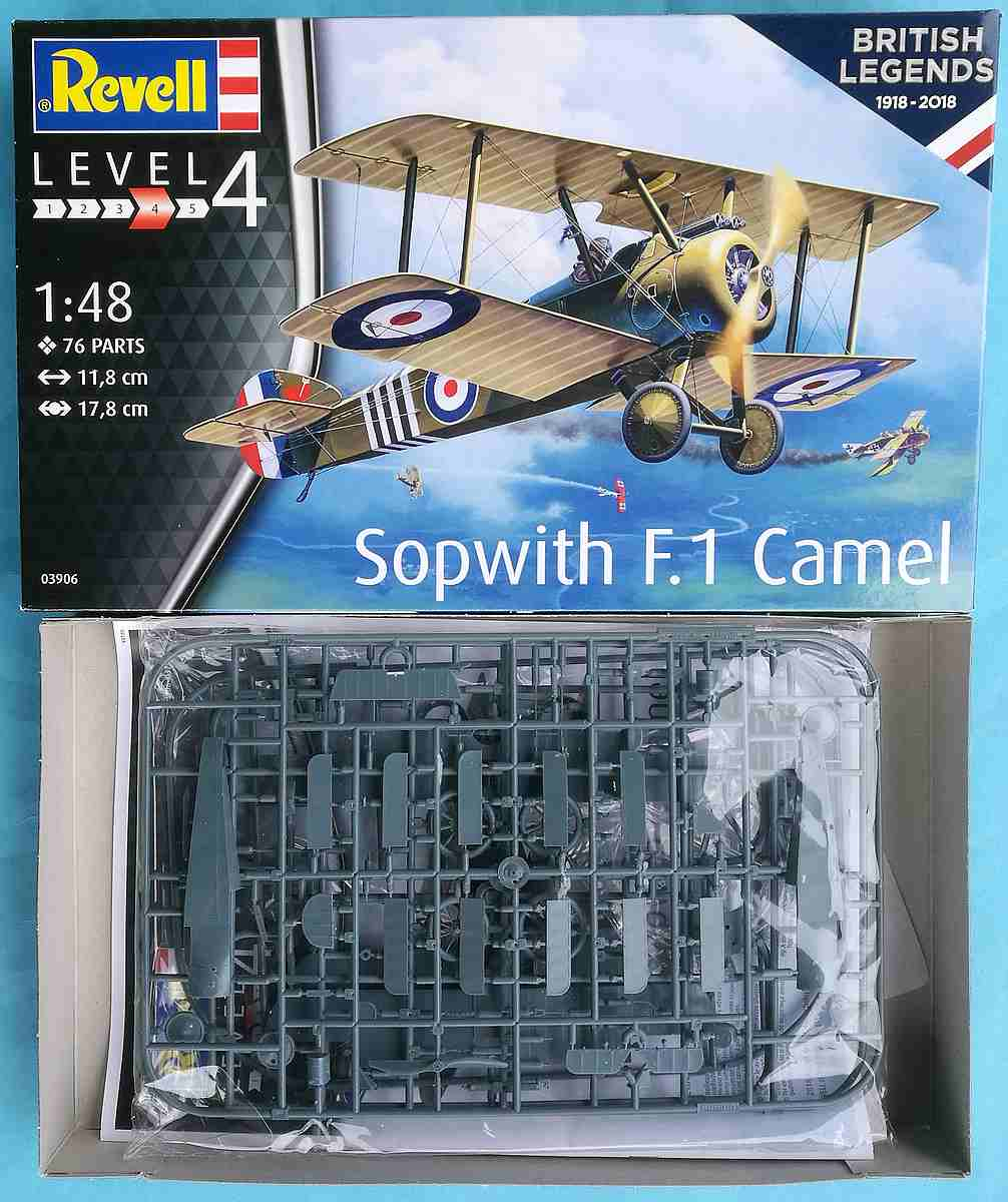 Revell-03906-Sopwith-F.1-Camel-2 Sopwith F.1 Camel in 1:48 Revell 03906