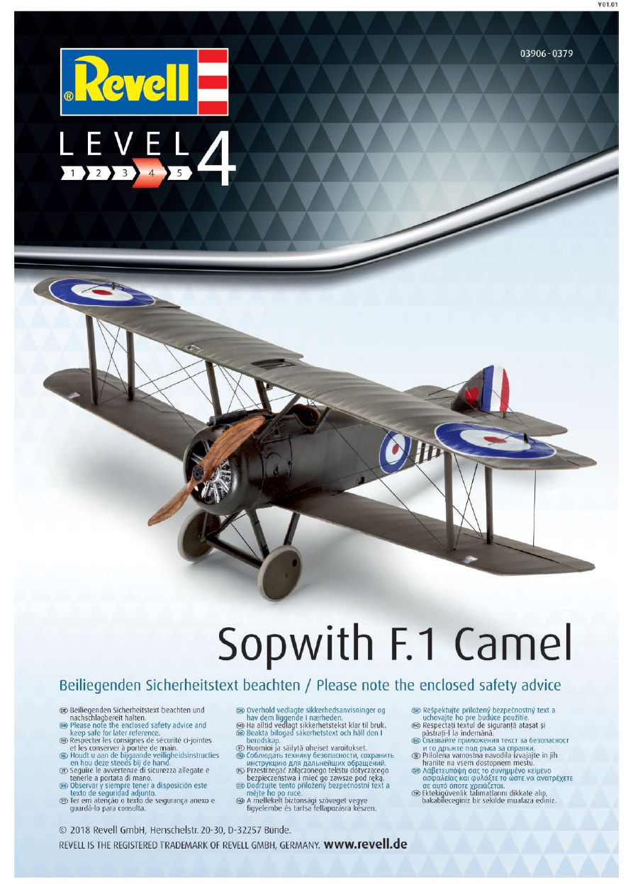 Revell-03906-Sopwith-F.1-Camel-Bauanleitung-13 Sopwith F.1 Camel in 1:48 Revell 03906