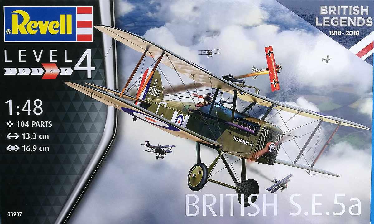 Revell-03907-S.E.-5a-100-years-RAF-1 RAF SE 5a British Legends im Maßstab 1:48 von Revell 03907
