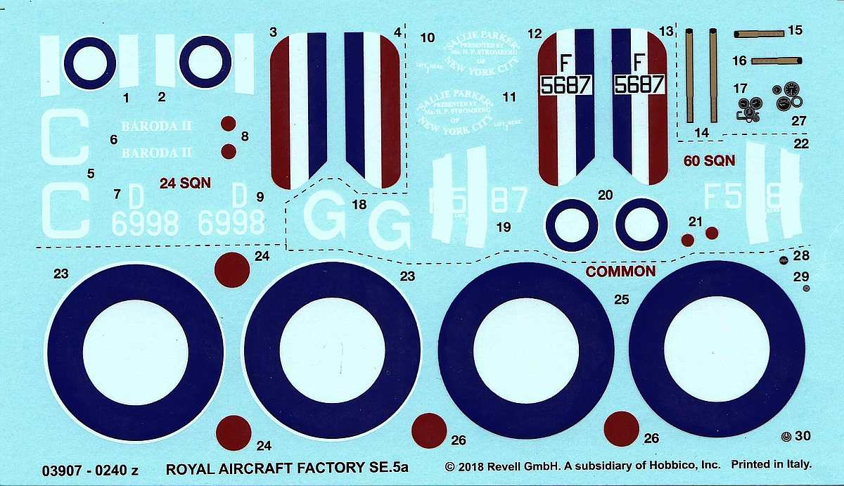 Revell-03907-S.E.-5a-100-years-RAF-10 RAF SE 5a British Legends im Maßstab 1:48 von Revell 03907