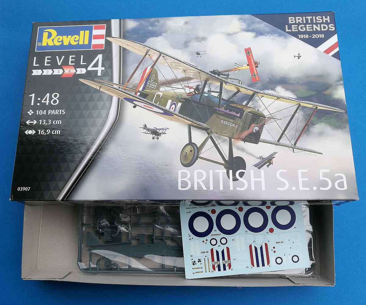 Revell-03907-S.E.-5a-100-years-RAF-3 RAF SE 5a British Legends im Maßstab 1:48 von Revell 03907