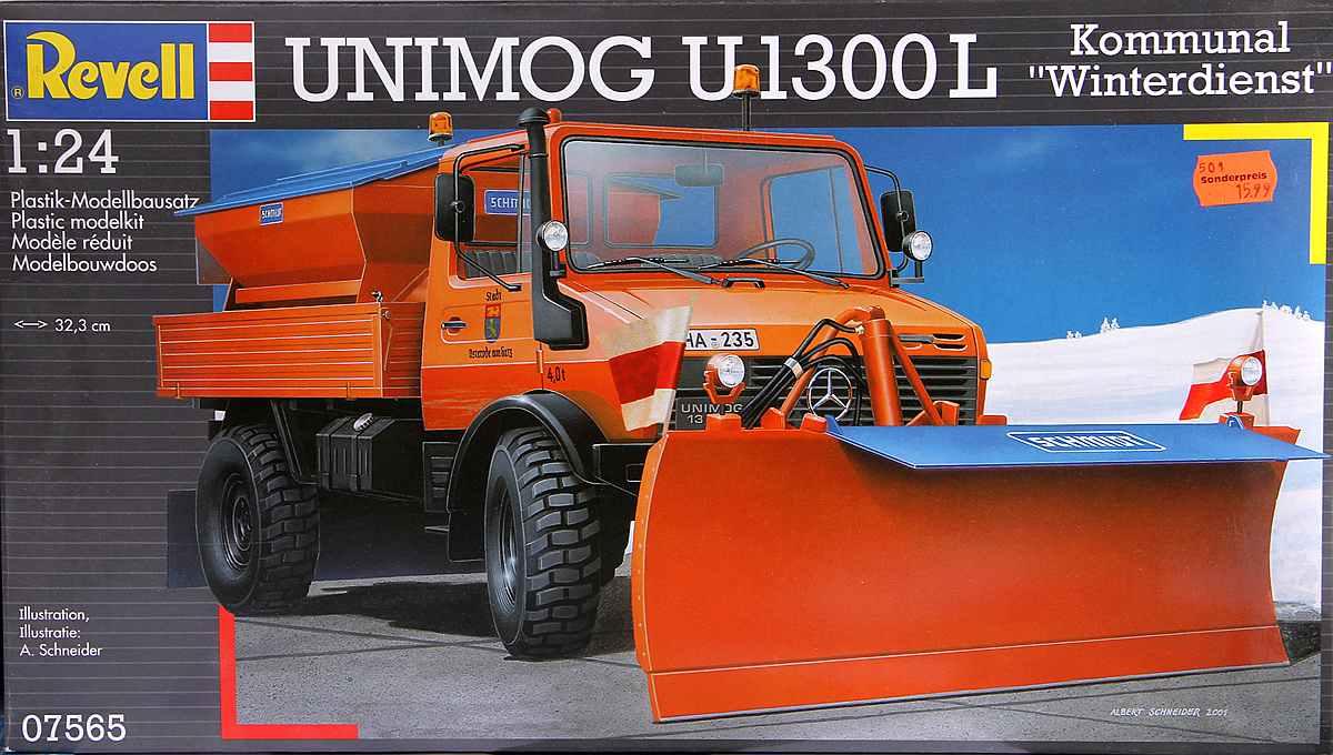 Revell-07438-Mercedes-Benz-Unimog-U-1300-L-Winterdienst-2 Mercedes Benz Unimog U 1300 L Winterdienst im Maßstab 1:24 von Revell 07438