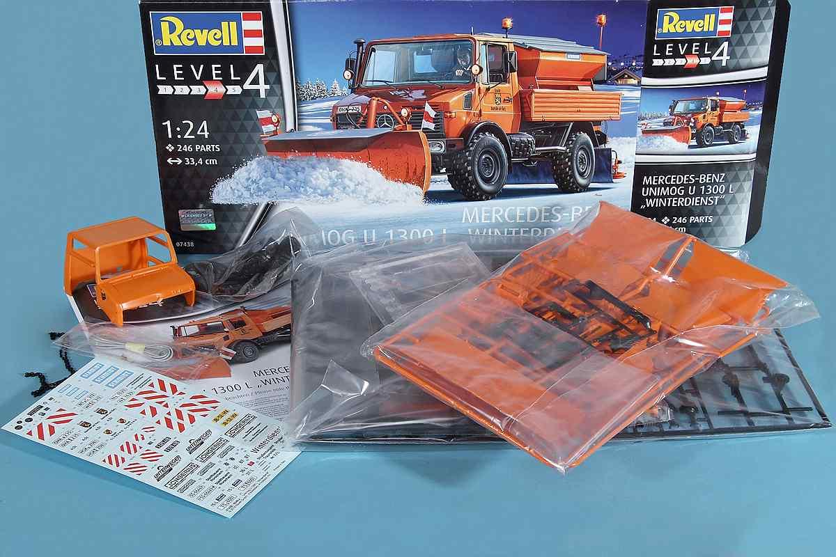 Revell-07438-Mercedes-Benz-Unimog-U-1300-L-Winterdienst-33 Mercedes Benz Unimog U 1300 L Winterdienst im Maßstab 1:24 von Revell 07438