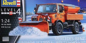 Mercedes Benz Unimog U 1300 L Winterdienst im Maßstab 1:24 von Revell 07438