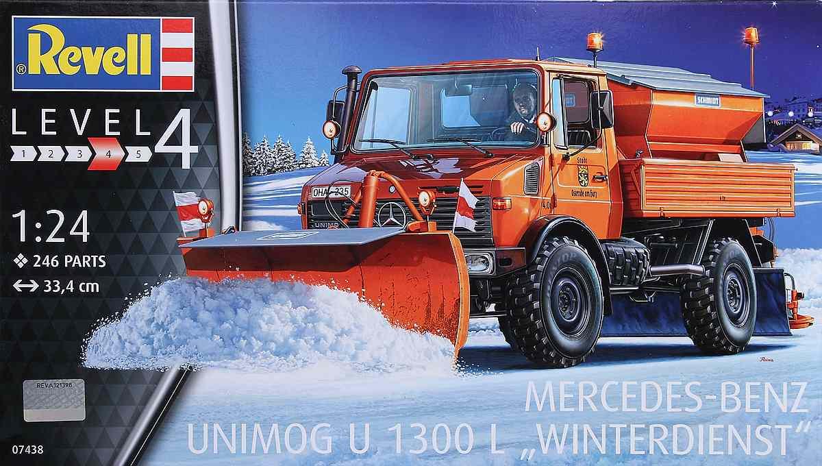 Revell-07438-Mercedes-Benz-Unimog-U-1300-L-Winterdienst-53 Mercedes Benz Unimog U 1300 L Winterdienst im Maßstab 1:24 von Revell 07438