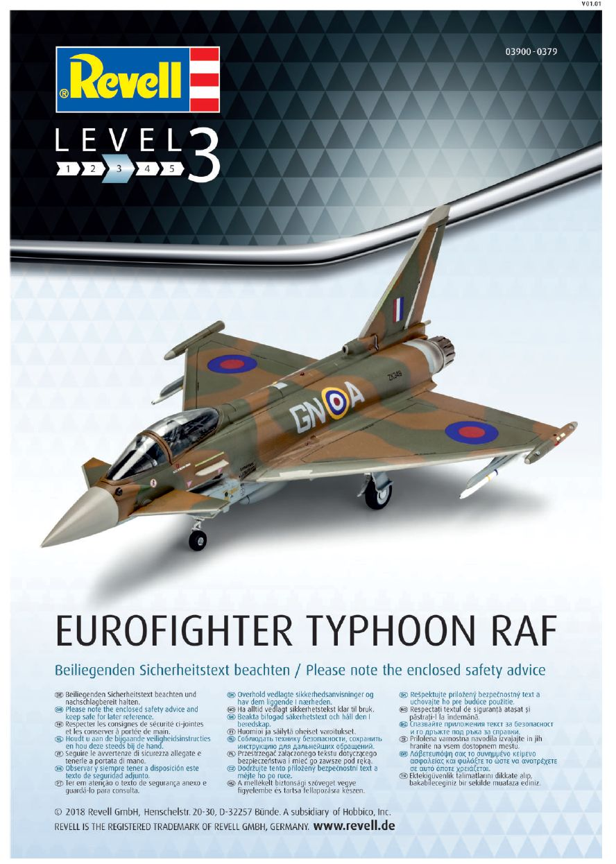 Revell-3900-Eurofighter-British-Legends-19 Eurofighter Typhoon RAF British Legends in 1:72 von Revell 3900