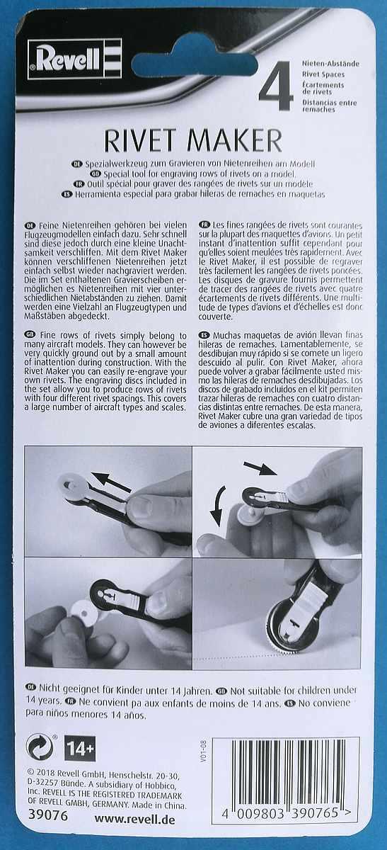 Revell-39076-Rivetmaker-2 Nieten-Gravier-Werkzeug (Rivetmaker) von Revell 39076