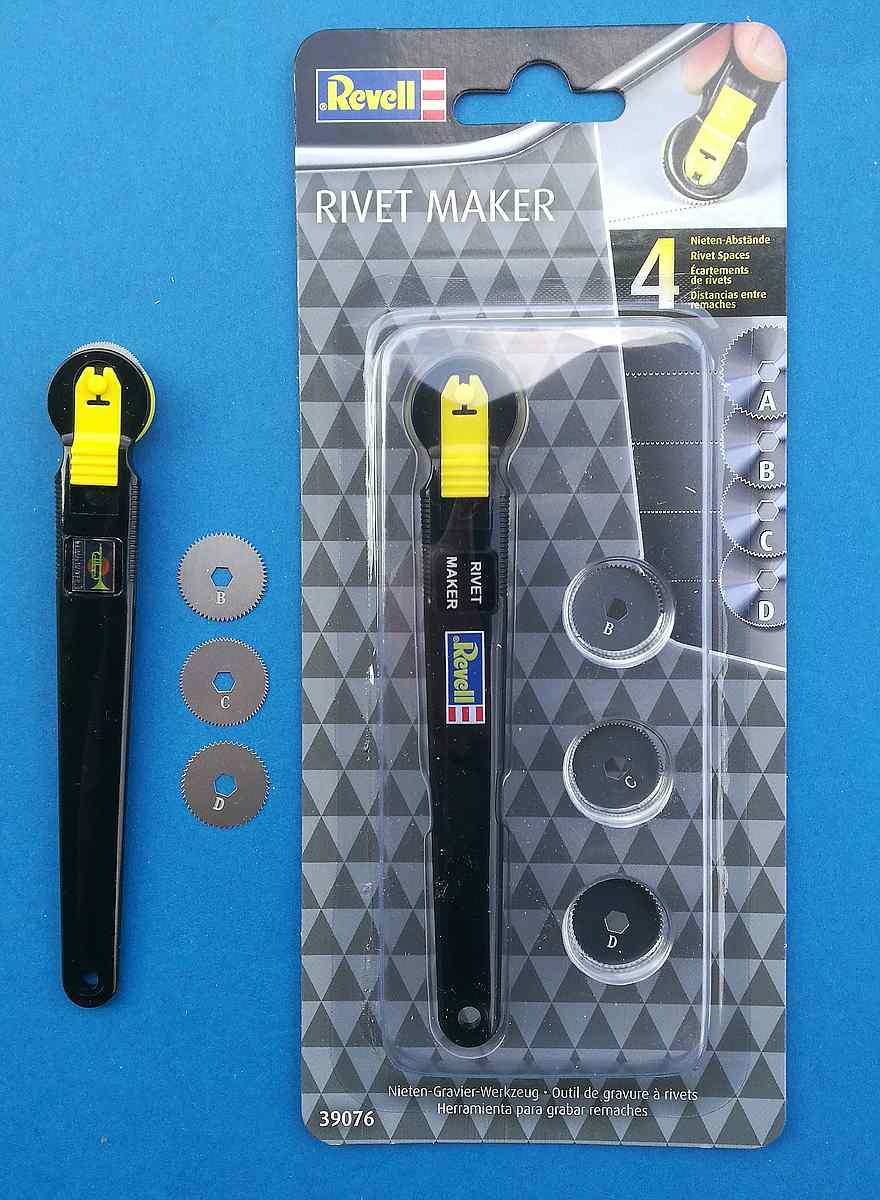 Revell-39076-Rivetmaker-3 Nieten-Gravier-Werkzeug (Rivetmaker) von Revell 39076