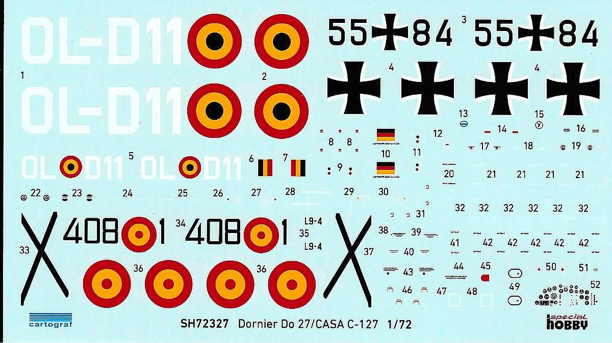 Special-Hobby-72327-Dornier-Do-27-3 Dornier Do 27 / Casa C-127 im Maßstab 1:72 von Special Hobby SH 72327