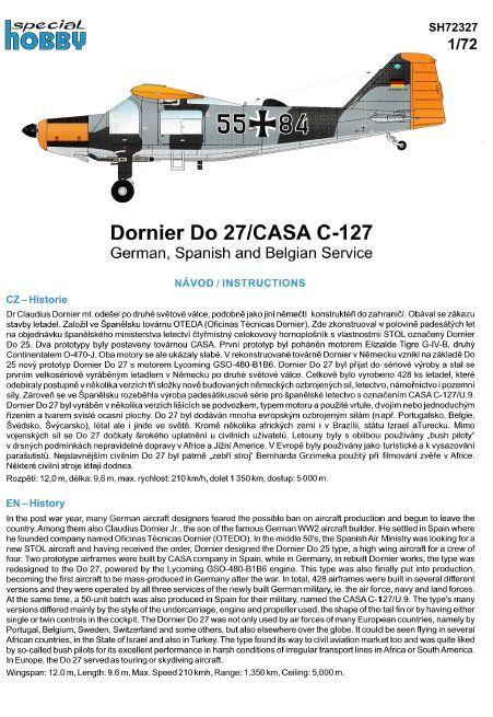 Special-Hobby-72327-Dornier-Do-27-Bauanleitung-6 Dornier Do 27 / Casa C-127 im Maßstab 1:72 von Special Hobby SH 72327
