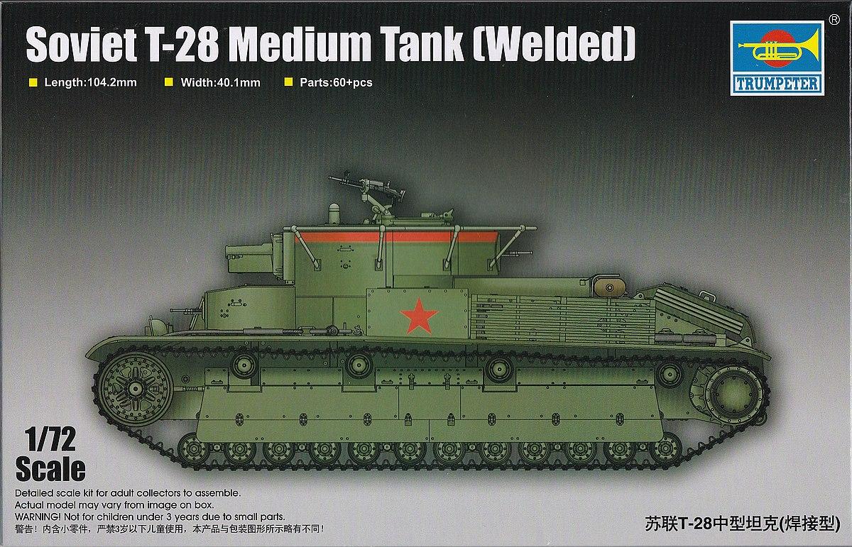 Trumpeter-07150-Soviet-T-28-Medium-Tank-Welded-1 Soviet T-28 Medium Tank (Welded) Trumpeter 07150