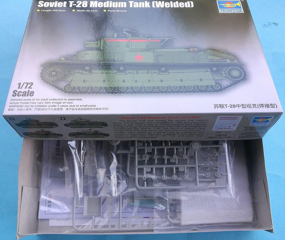 Trumpeter-07150-Soviet-T-28-Medium-Tank-Welded-9 Soviet T-28 Medium Tank (Welded) Trumpeter 07150