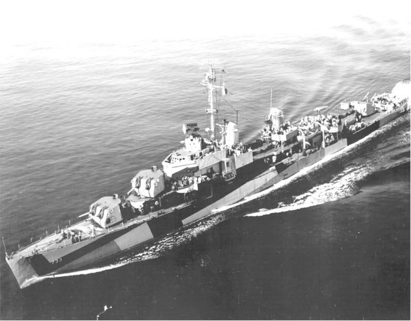 USS_Mannert_L._Abele_DD-733 12. April 1945: Versenkung der USS Mannert L. Abele durch eine Ohka-Einheit