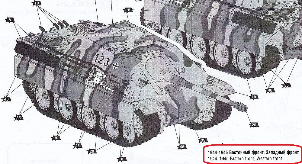 Zvezda-5042-Jagdpanther-4 German Tank Destroyer Jagdpanther im Maßstab 1:72 Zvezda # 5042