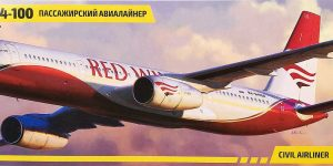 Tupolev Tu 204-100 im Maßstab 1:144 von Zvezda 7023