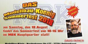 Sommerfest bei Modellbau König am 18. August