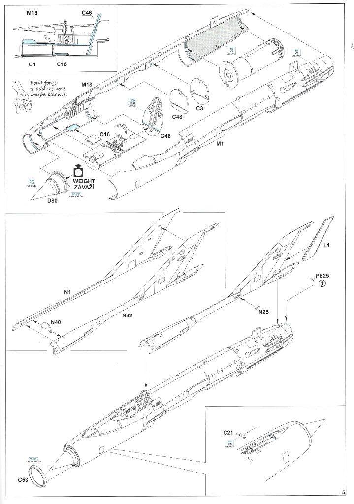 """Anleitung05-2-719x1024 MiG-21PFM """"Vietnam"""" 1:48 Eduard (#11115)"""