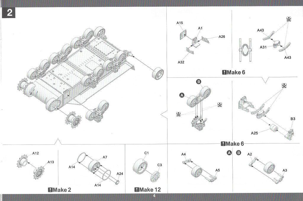 Anleitung05-3-1024x681 US Medium Tank M3 Lee Late 1:35 Takom (2087)