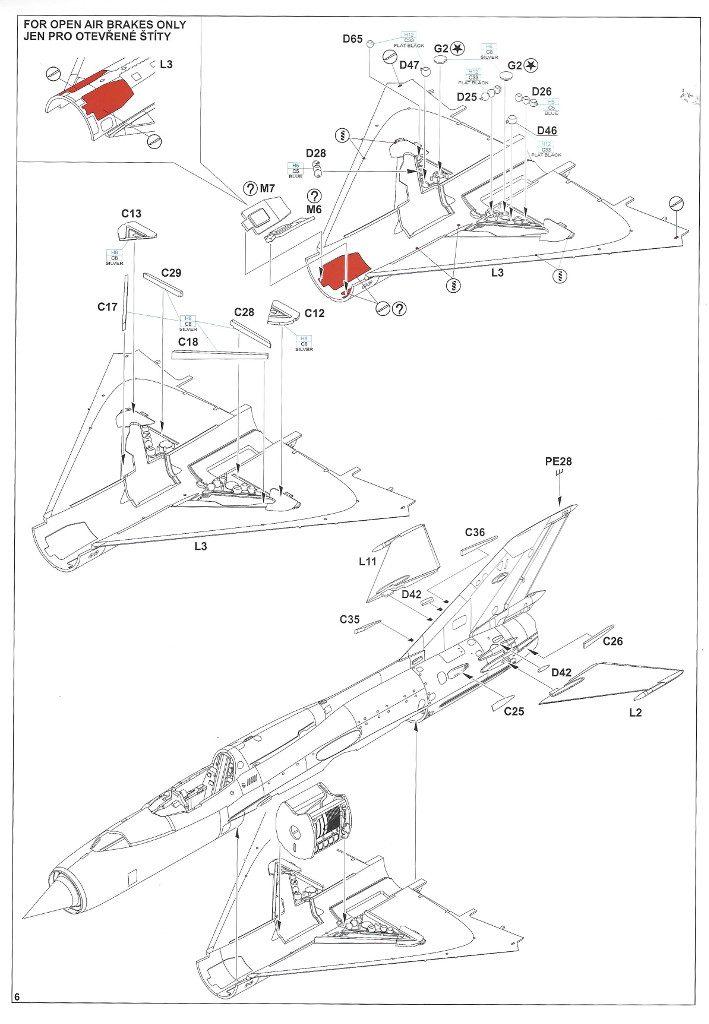 """Anleitung06-2-709x1024 MiG-21PFM """"Vietnam"""" 1:48 Eduard (#11115)"""